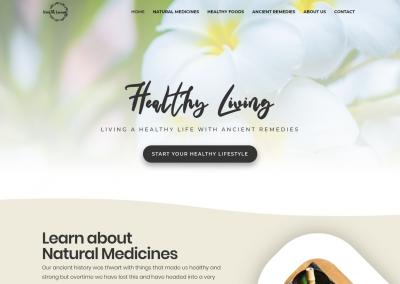 Healthy Living Mockup - Tattwa Networks Web Design