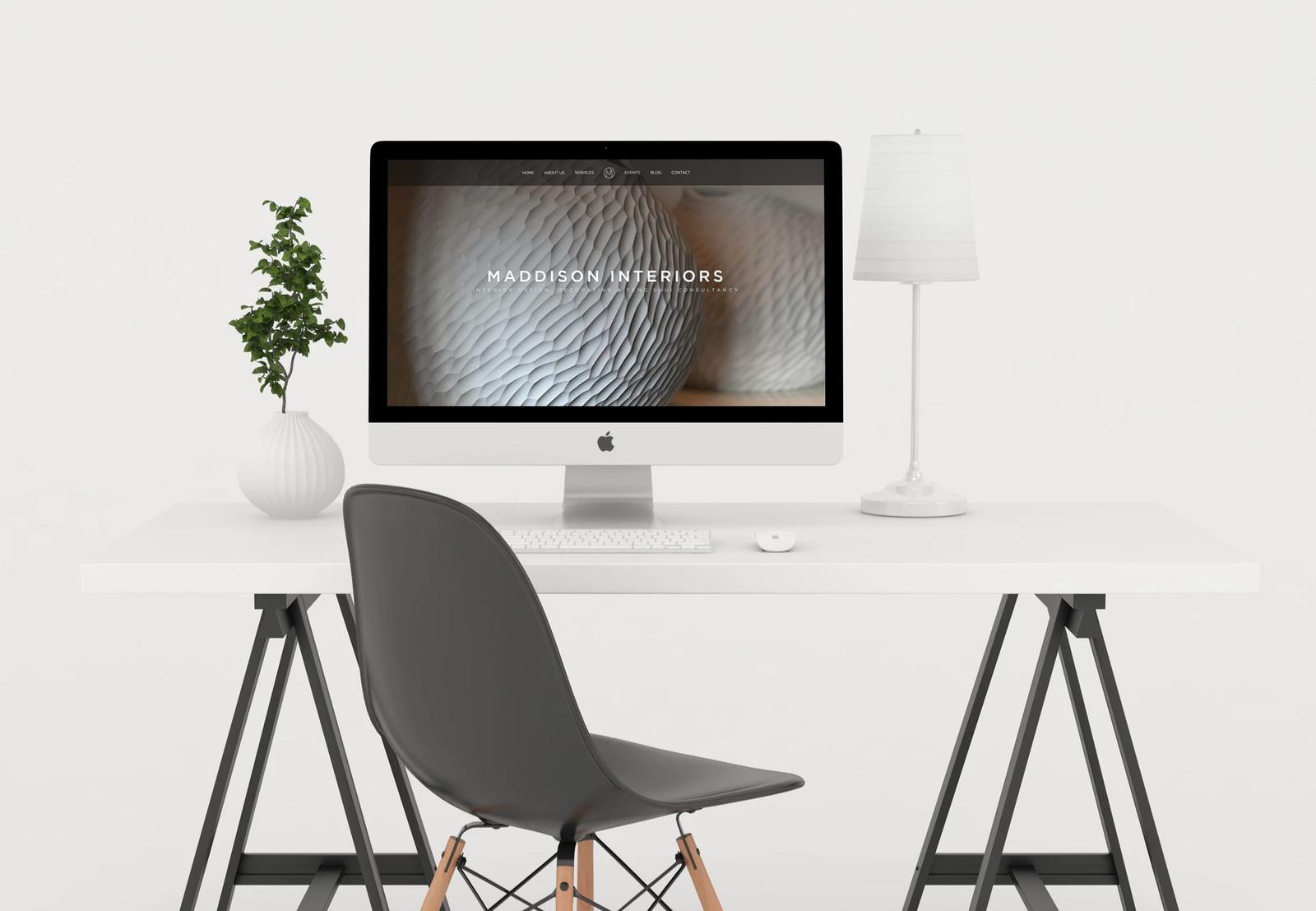 Presentation of designed flower shop website