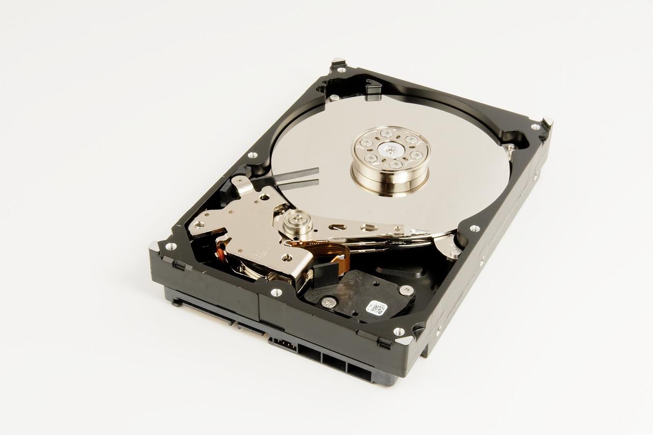 Internal components of a mechanical hard drive