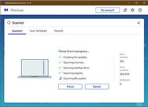 Malwarebytes an Antimalware / Antivirus scanner which picks up everything